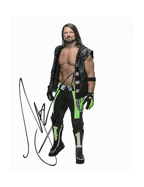 8x10 Print Signed by Wrestling Superstar AJ Styles