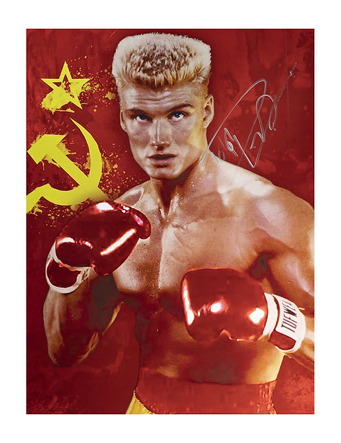 Ivan Drago 12x16 Print Signed by Dolph Lundgren