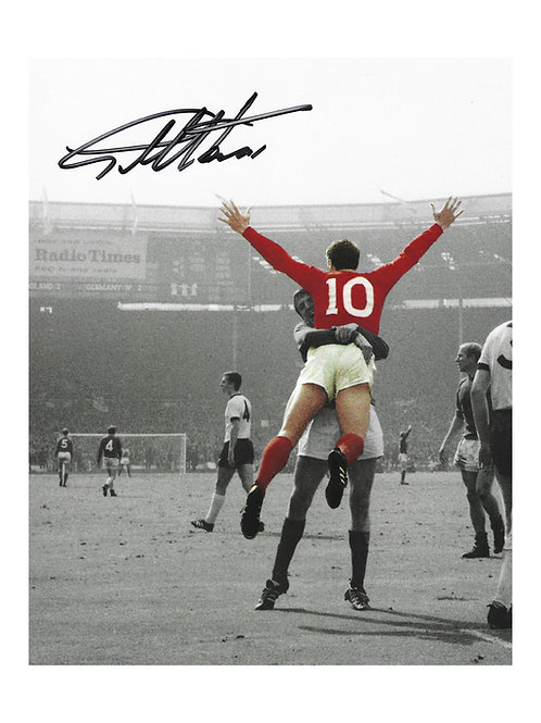 8x10 1966 World Cup Print Signed By Sir Geoff Hurst