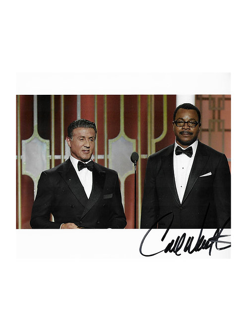 10x8 Golden Globe Awards 2017 Print Signed by Carl Weathers