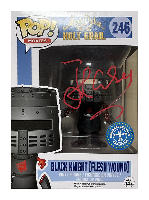 Black Knight Underground Toys Exclusive Funko Pop Signed by John Cleese