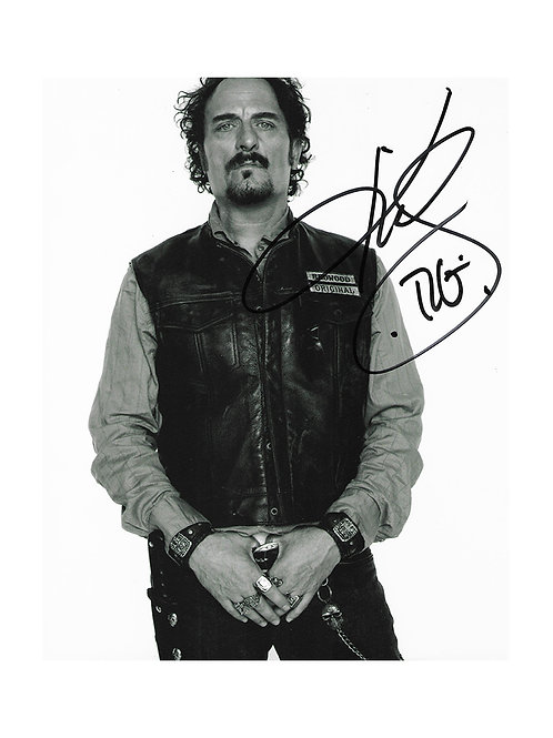 8x10 Sons Of Anarchy Print Signed by Kim Coates