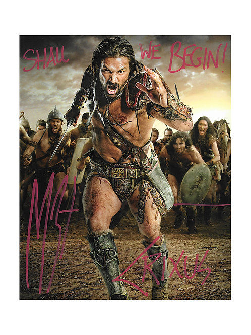 8x10 Spartacus Print Signed by Manu Bennett