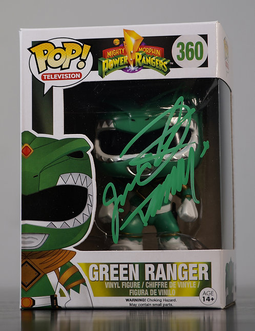 Green Power Ranger Packaged Funko Pop Figure Signed By Jason David Frank