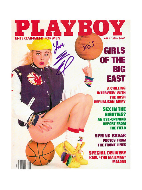 8x10 Playboy Cover Print Signed by Erika Eleniak