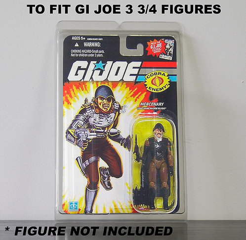 Protective Cases For GI Joe 3 3/4 Inch MOC Figures - Various Pack Sizes