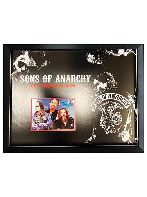 Framed Sons of Anarchy Print Signed by Tommy Flanagan, Kim Coates, Mark Boone Jr