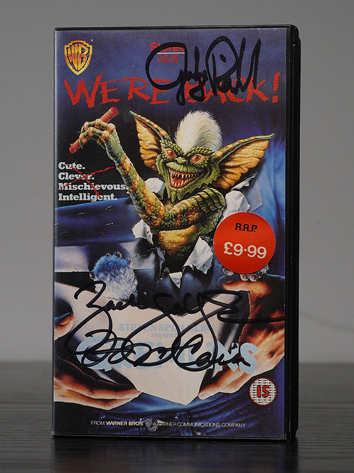 Gremlins VHS Tape Signed By Zach Galligan, Judge Reinhold & Francis Lee McCain
