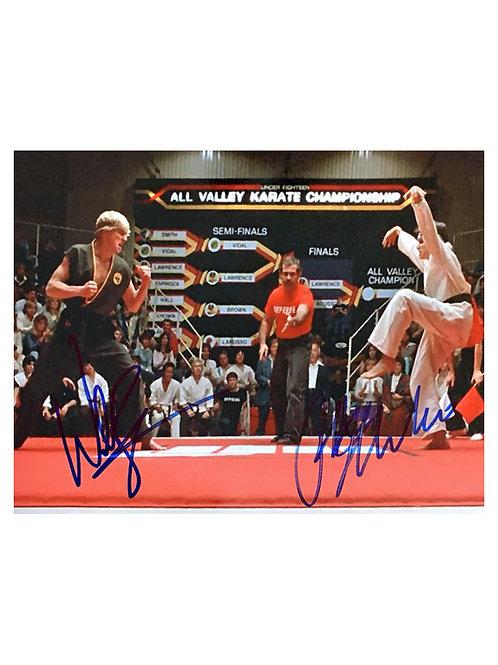 10x8 Karate Kid Print Signed by Ralph Macchio and William Zabka