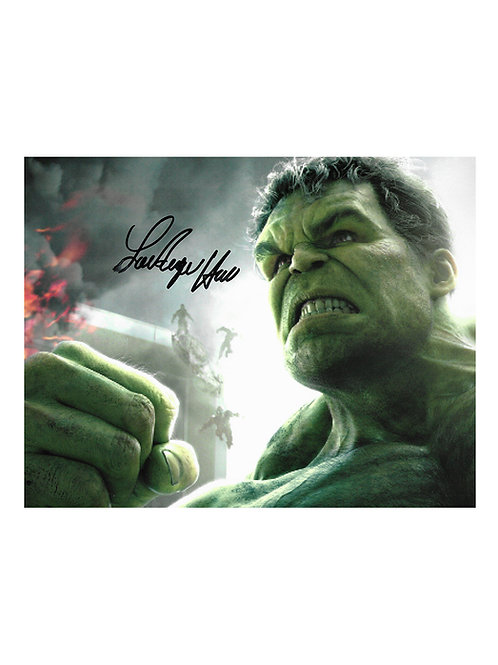 10x8 The Incredible Hulk Print Signed by Lou Ferrigno
