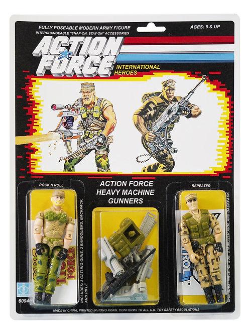 Action Force / GI Joe Heavy Machine Gunners Rock n Roll & Repeater MOC Custom