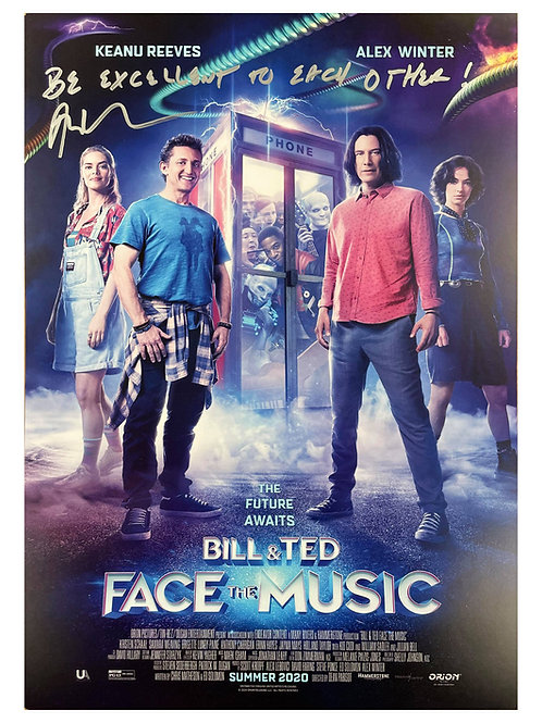 A3 Bill & Ted Face the Music Poster Signed by Alex Winter