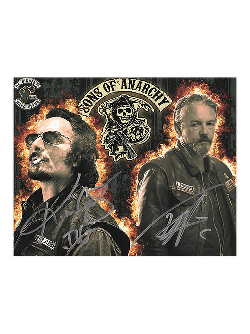 10x8 Sons Of Anarchy Print Signed by Tommy Flanagan & Kim Coates