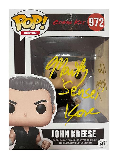 John Kreese Custom Funko Pop Signed by Martin Kove