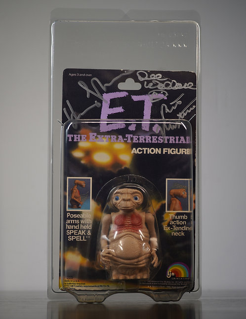 Vintage E.T. Figure Signed By Henry Thomas, Dee Wallace, Robert MacNaughton