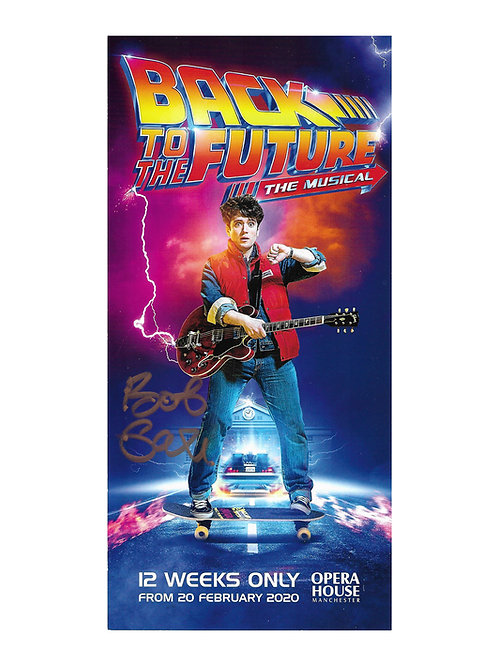 Back to the Future The Musical Flyer Signed By Bob Gale