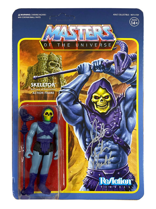 Vintage ReAction Skeletor Action Figure Signed By Alan Oppenheimer