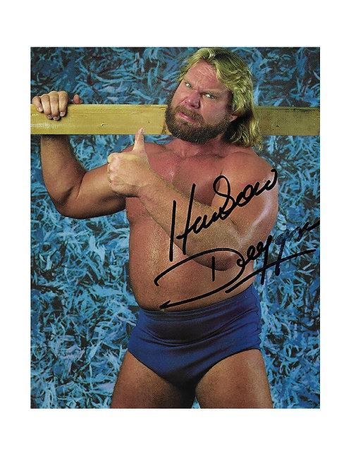 "8x10 Print Signed by Wrestling Superstar ""Hacksaw"" Jim Duggan"