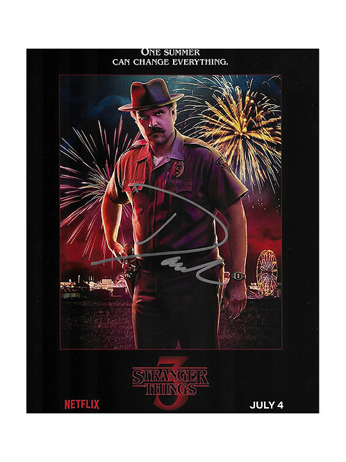 8x10 Stranger Things Print Signed by David Harbour