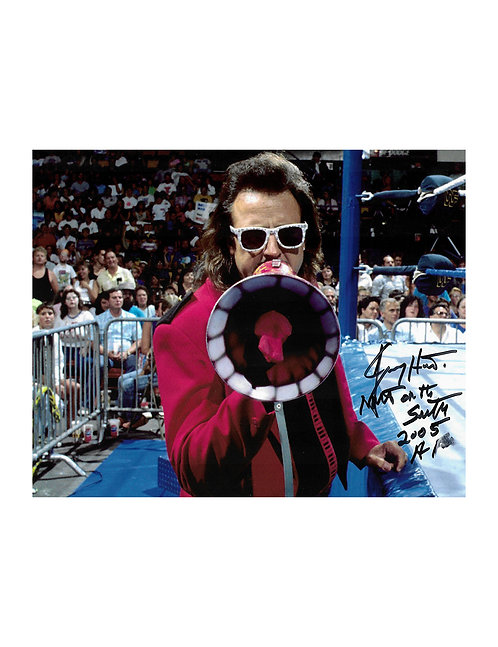 "10x8 Print Signed by Wrestling SuperstarJimmy ""Mouth Of The South"" Hart"