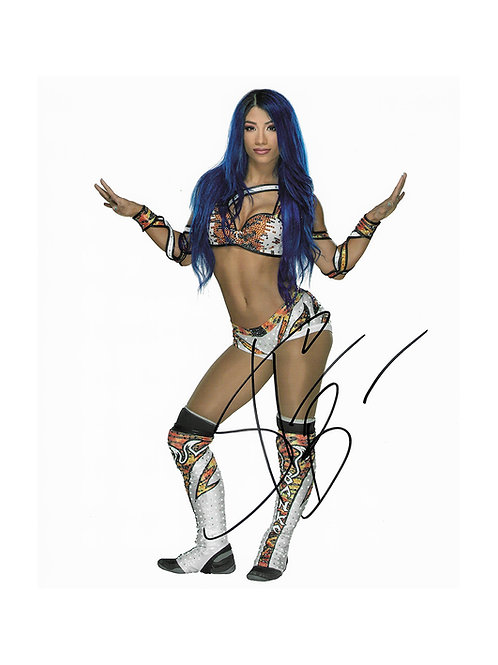 8x10 Print Signed by Wrestling Superstar Sasha Banks