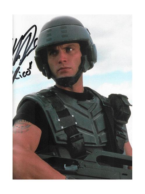 10x8 Starship Troopers Print Signed by Casper Van Dien