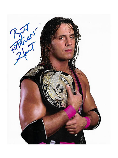 "8x10 Print Signed by Wrestling Superstar Bret ""Hitman"" Hart"