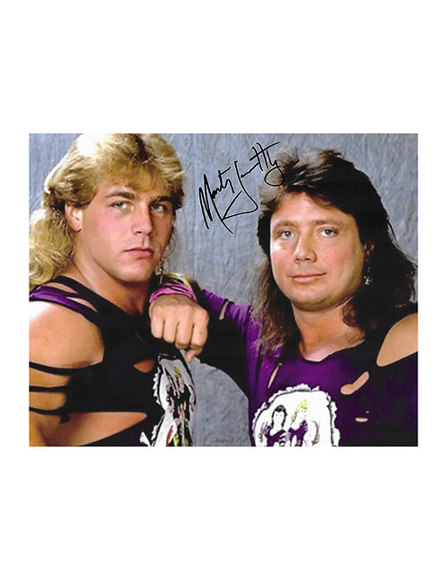 10x8 Print Signed by Wrestling Superstar Marty Jannetty