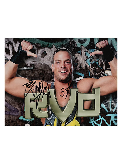 10x8 Print Signed by Wrestling Superstar Rob Van Dam