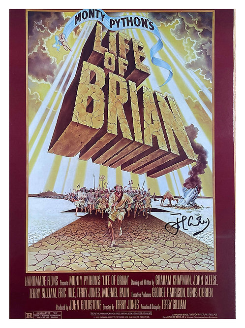 A3 Monty Python's Life of Brian Poster Signed by John Cleese
