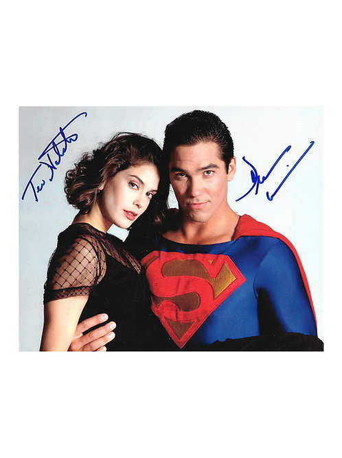 10x8 Superman Print Signed by Teri Hatcher & Dean Cain