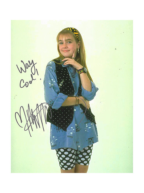 8x10 Clarissa Explains It All Print Signed By Melissa Joan Hart
