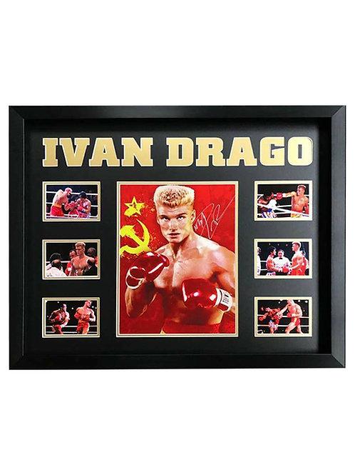 Framed Ivan Drago Print Signed by Dolph Lundgren