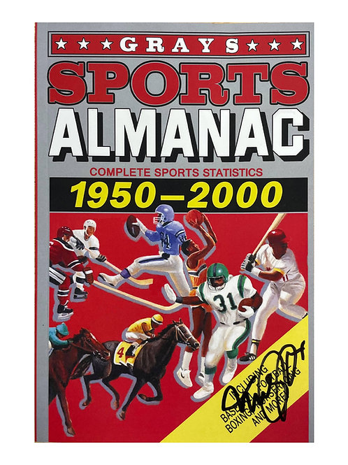 Back to the Future Sports Almanac Signed by Michael J Fox