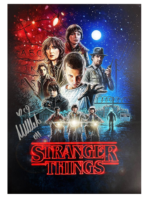 A3 Stranger Things 1 Poster Signed by Millie Bobby Brown