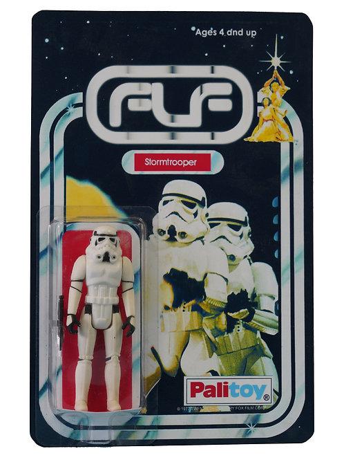 Vintage 1977 Star Wars Stormtrooper Figure On Custom Made FTLOT