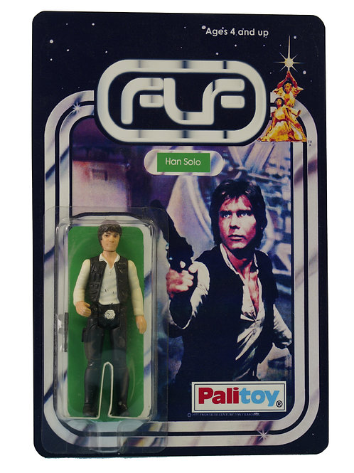 Vintage 1977 Star Wars Han Solo Figure On Custom Made FTLOT