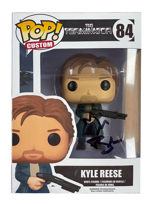 The Terminator Print Kyle Reese Funko Pop Signed by Michael Biehn
