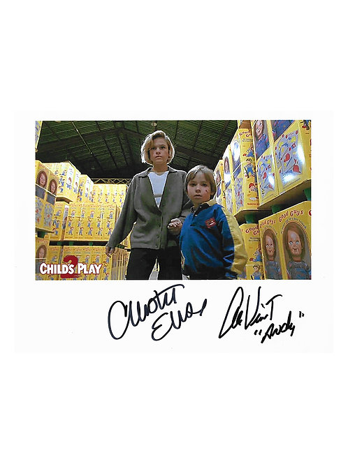 10x8 Child's Play Print Signed by Alex Vincent and Christine Elise