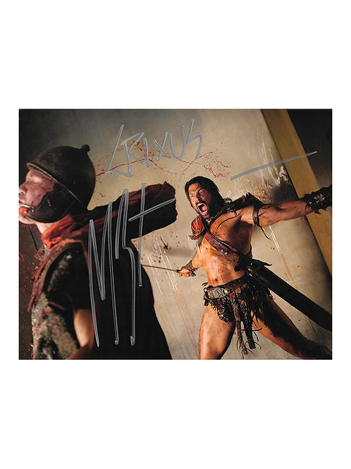 10x8 Spartacus Print Signed by Manu Bennett