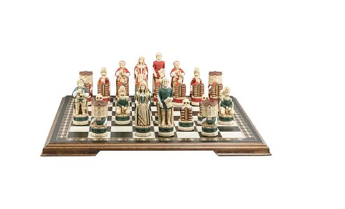 Studio Anne Carlton Shakespeare & The Globe Handpainted Chess Set Pieces