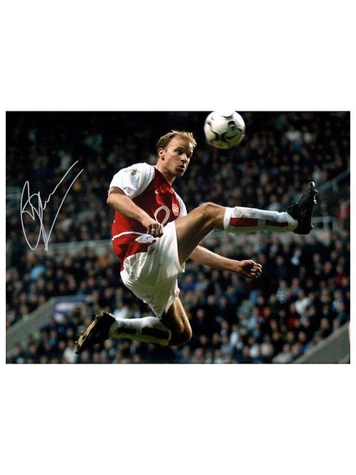16x12 Arsenal Statue Print Signed By Dennis Bergkamp