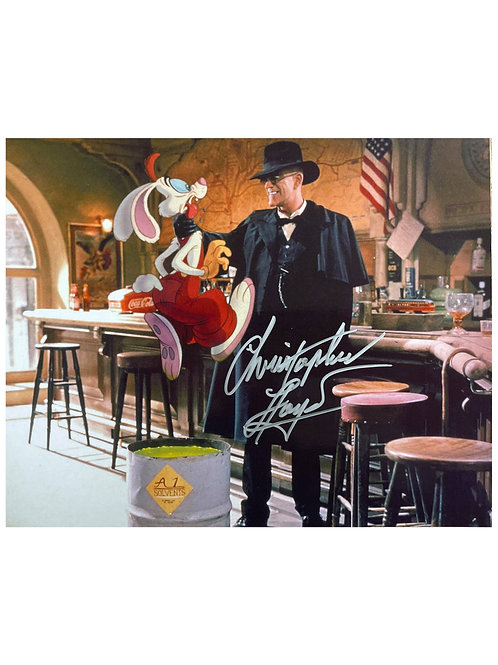 10x8 Who Framed Roger Rabbit Print Signed by Christopher Lloyd