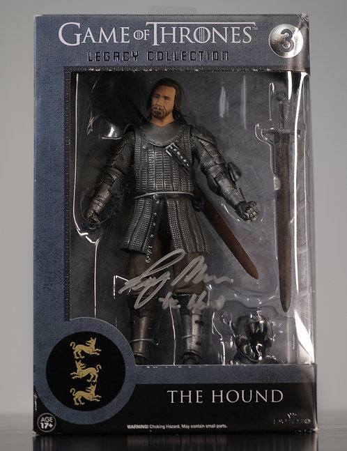 The Hound Game Of Thrones Figure Signed by Rory McCann