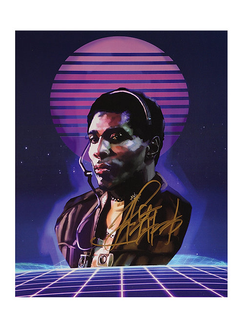 8x10 Battlestar Galactica Print Signed by Herbert Jefferson Jr.