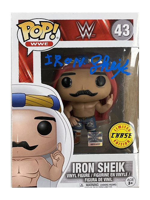 Funko Pop Chase Figure Signed by Wrestling Superstar Iron Sheik