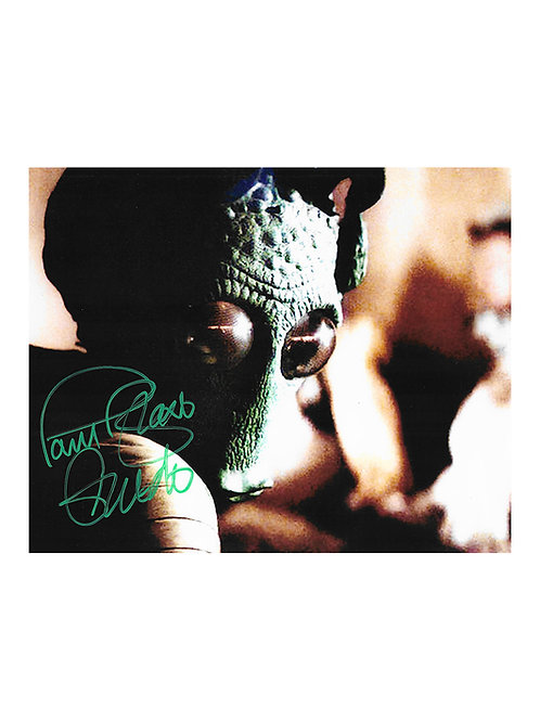10x8 Star Wars Greedo Print Signed by Paul Blake