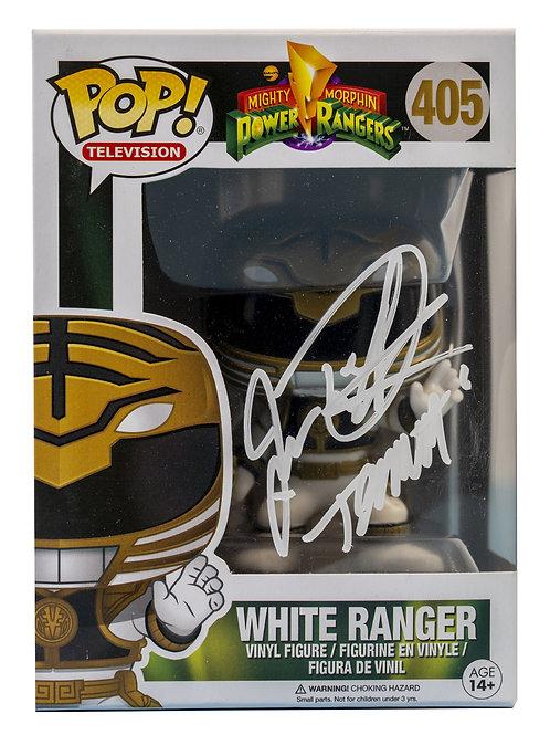 White Power Ranger Packaged Funko Pop Figure Signed By Jason David Frank