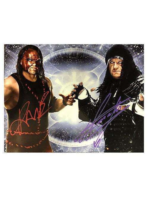 10x8 WWE WWF Print Signed by Kane & The Undertaker