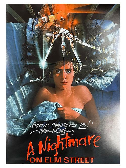 A2 Nightmare on Elm Street Poster Signed by Robert Englund